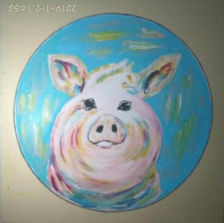《猪年画猪》