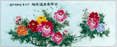 《牡丹图一一花开盛世送吉祥》
