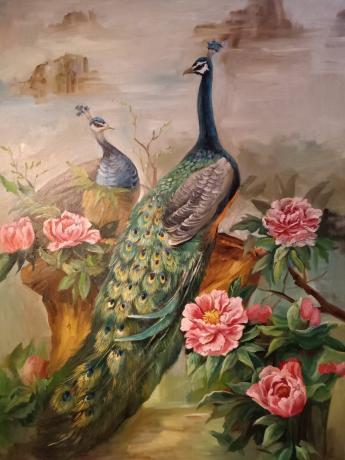 《花鸟争艳》