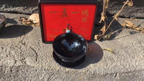 建窑建盏传统柴烧乌金