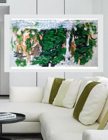 国家青绿山水原创系列之二御龙谷