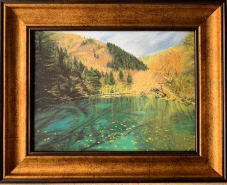 五色水 带外画框