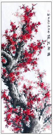 《13平尺精品红梅一一梅开五福(G1755)》