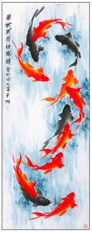 13平尺鲤鱼图一一鲤鱼浪飒富贵风1797