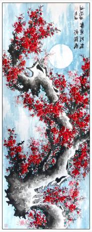 13平尺精品雪中梅花一一梅绽五福纳吉祥1869